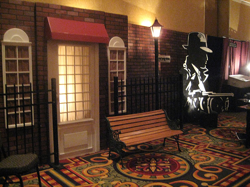 1920s Street decor with Dick Tracy cutout