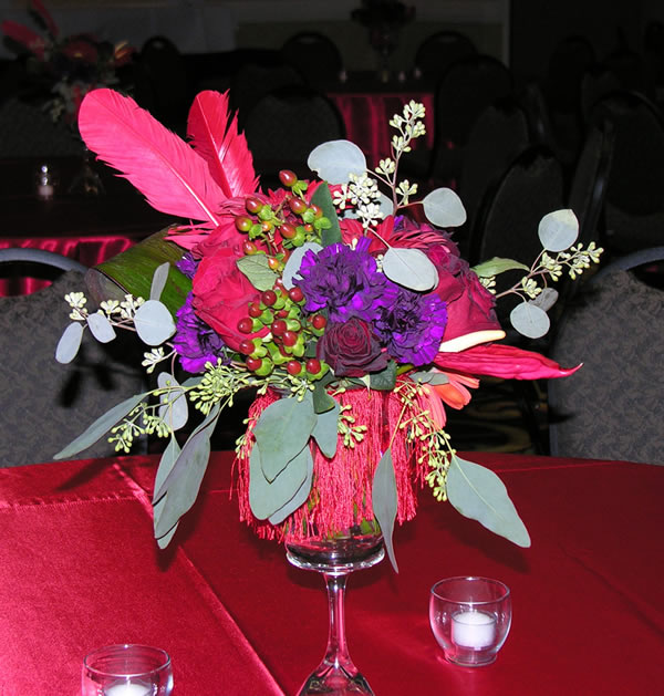 1920s themed centerpiece
