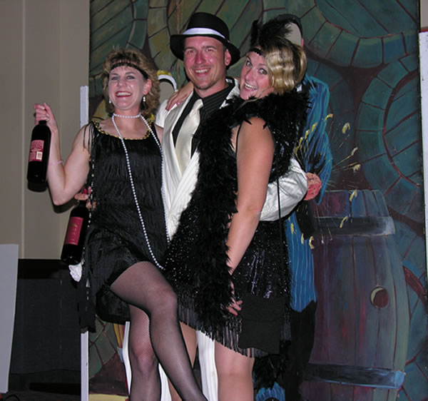 1920s party goers