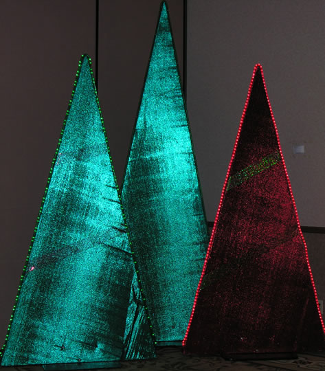 lighted triangle tree