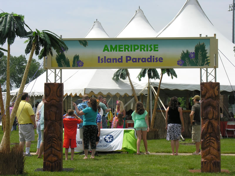 tropical entrance sign