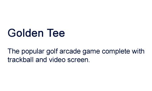 golden tee golf game