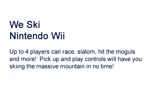 skiing game